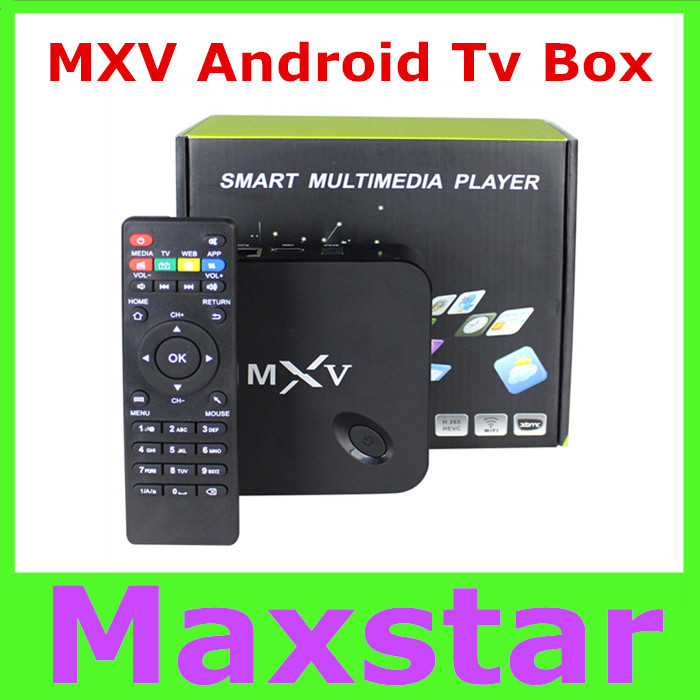 MXV Quad Core Android TV BOX Amlogic S805 1GB/8GB Cortex 1.5 GHZ Android 4.4 KODI WIFI Bluetooth H.265 HEVC Media Player(China (Mainland))