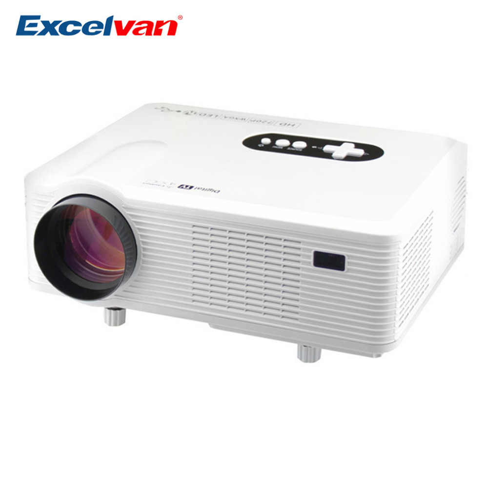 Excelvan CL720 Projector 3000 Lumens HD Native 720P Support 1080P LED Video Projector HDMI/VGA/USB/AV/ATV Home Theater Projector(China (Mainland))