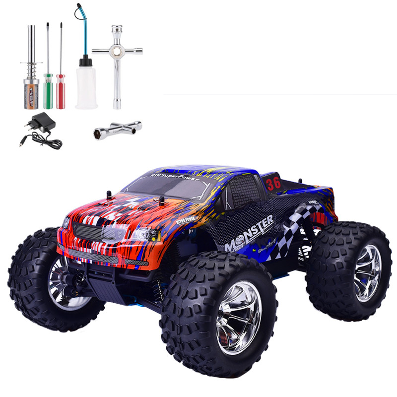 hsp rc car 1 10 scale nitro gas power off road monster. Black Bedroom Furniture Sets. Home Design Ideas