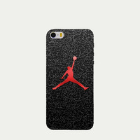 Fashion sports brand Jordan logo phone cases for Apple iPhone 5c 6 6s case high-quality plastic hard cover