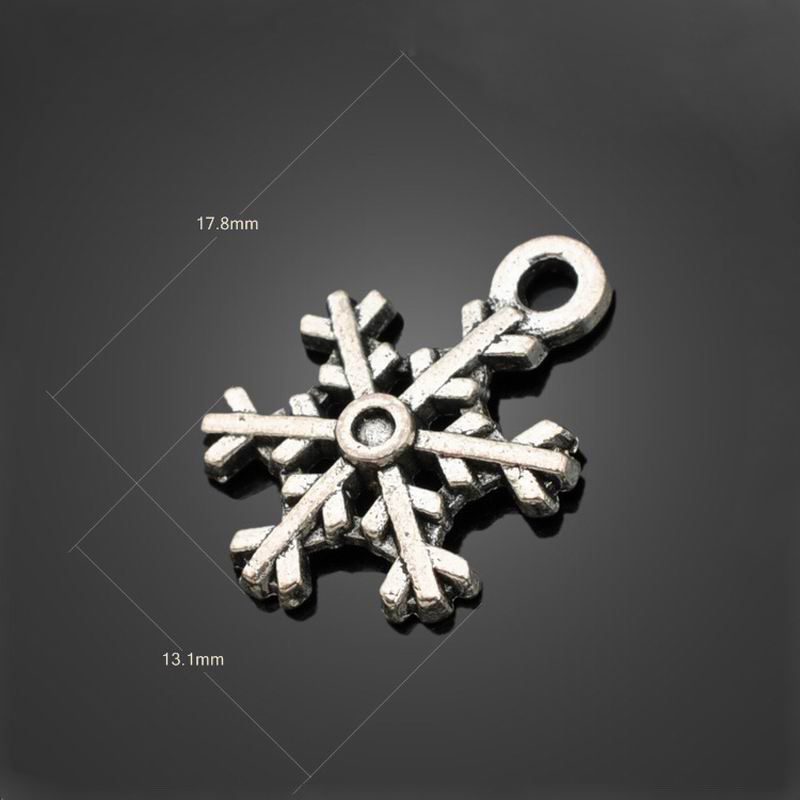 10 pcs 17.8*13.1mm ancient silver Plated snowflake Pendant DIY Fashion charm Fit Bracelet Necklace Jewelry accessories CDY606(China (Mainland))