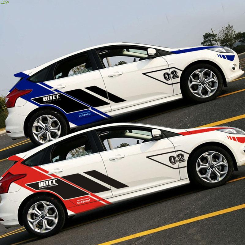 WTCC design car body refit styling vinyl accessories,fashion car stickers and decals for FORD FOCUS 2 and so on(China (Mainland))
