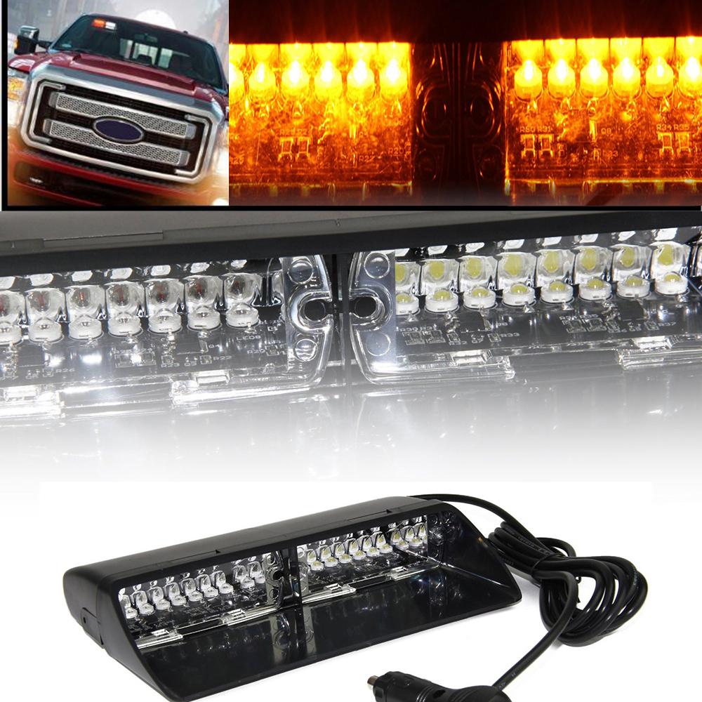 Yellow 16 Led Strobe Light High Intensity Led Emergency Hazard Warning For Suv Truck Interior