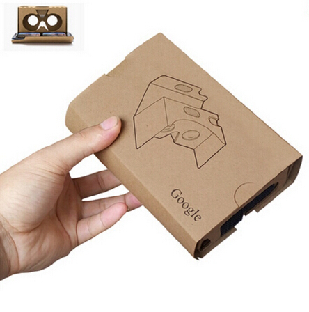 2016 Google Cardboard 2.0 Virtual reality 3D glasses the new cardboard VR headset oculus rift top quality kraft paper+ headband(China (Mainland))