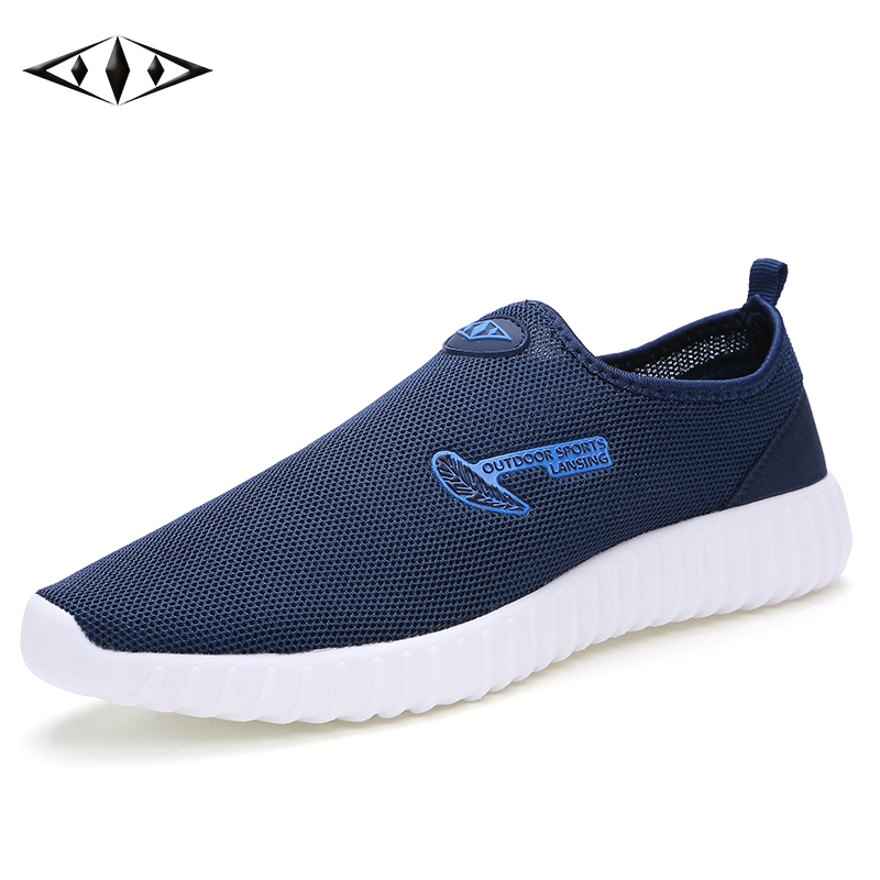 <font><b>LEMAI</b></font> 2016 Fashion Mens Shoes Breathable Mesh Running Shoes Super Light Casual Summer Men Outdoor Sport Blue Sneakers 016-2