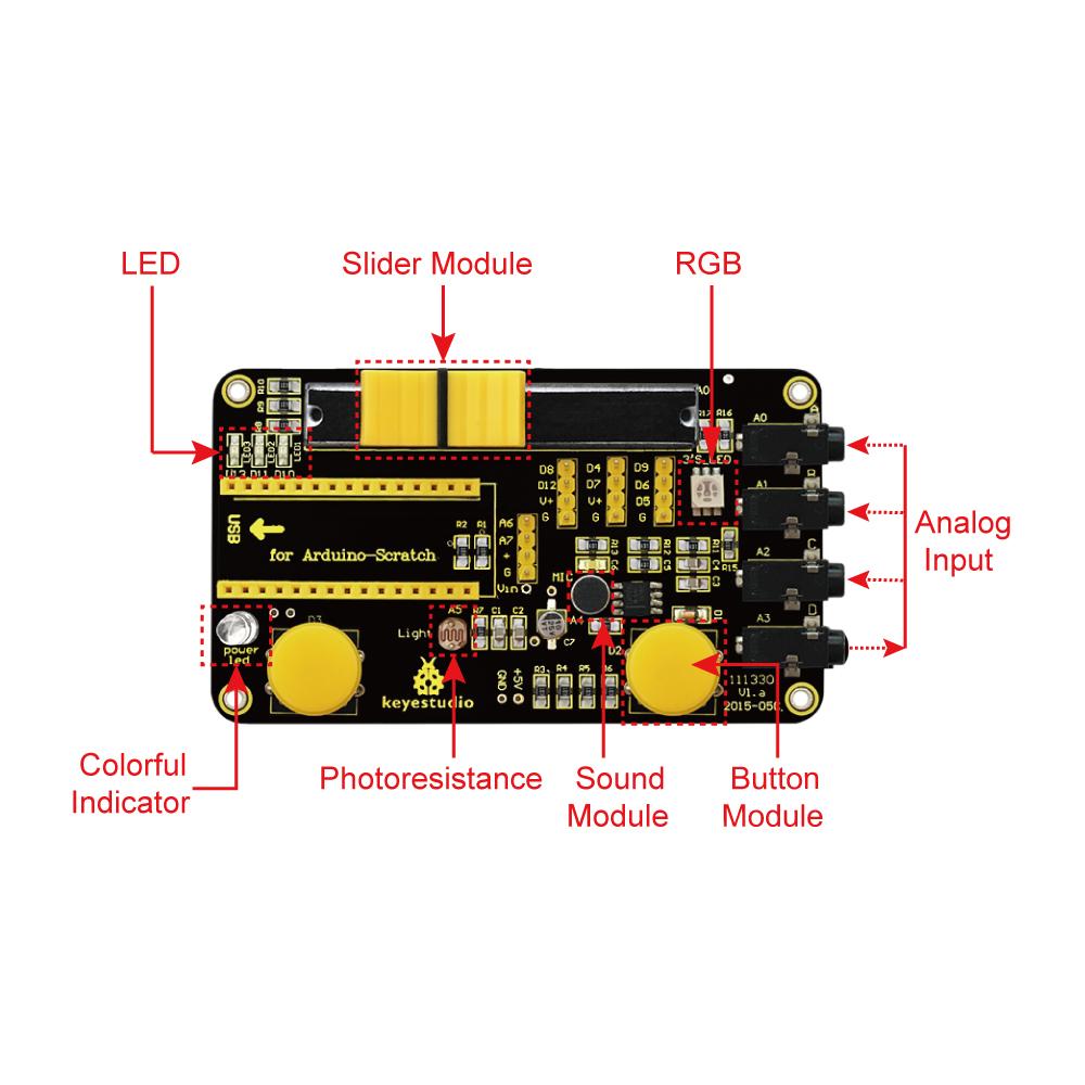 New keyestudio scratch kit for arduino starter with