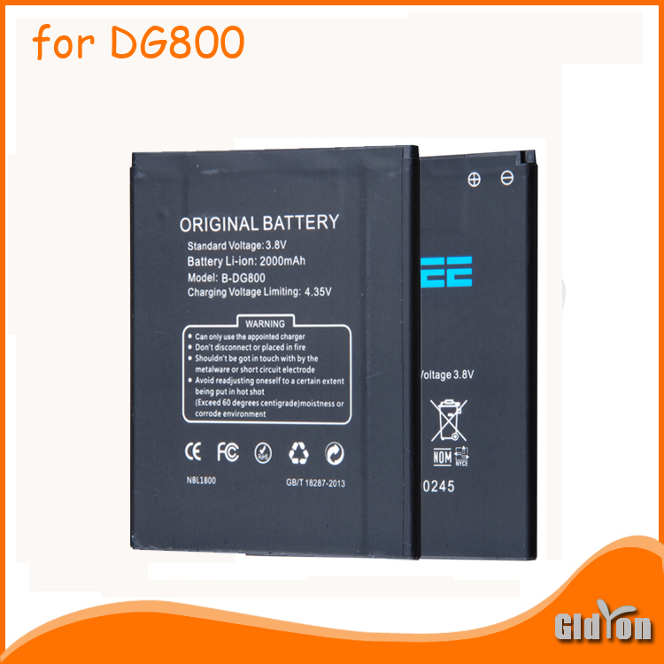 Original Battery for DOOGEE DG800 Smartphone 2000mAh Lithium-ion Battery for DOOGEE Valencia DG800 Free Shipping