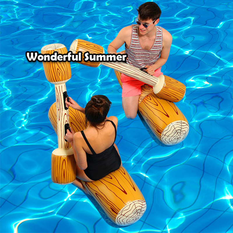 4 Pieces/set Joust Pool Float Game Inflatable Water Sports Bumper Toys For Adult Children Party Gladiator Raft Kickboard Piscina(China (Mainland))