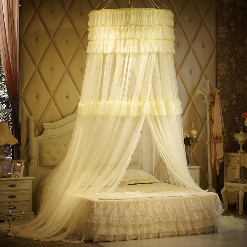 Luxury Mosquito Net For Double Bed Princess Lace Palace Bed Curtain Canopy Bed Curtains