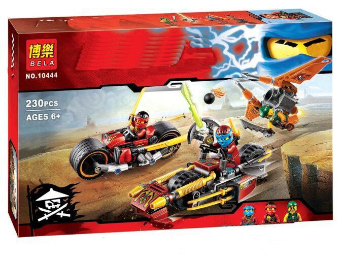 2016 BELA Kai's Blade Cycle Ninja Kai Minifigures Building Blocks 3 in 1 Machine Figures Gift toys Compatible Legoelieds Vehicle(China (Mainland))