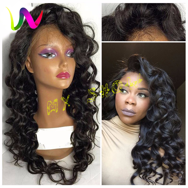 Long Wavy Synthetic Lace Front Wigs For Black Women Loose Curly Synthetic Lace Wig Deep Curly Lace Front Synthetic Wig Baby Hair(China (Mainland))
