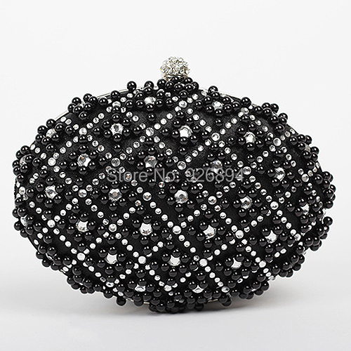 Элегантный роскошь подвески жемчуг алмаз круг атлас полиуретан бумажник сумочка сцепление вечернее мешок леди наплечная сумка портмоне ну вечеринку