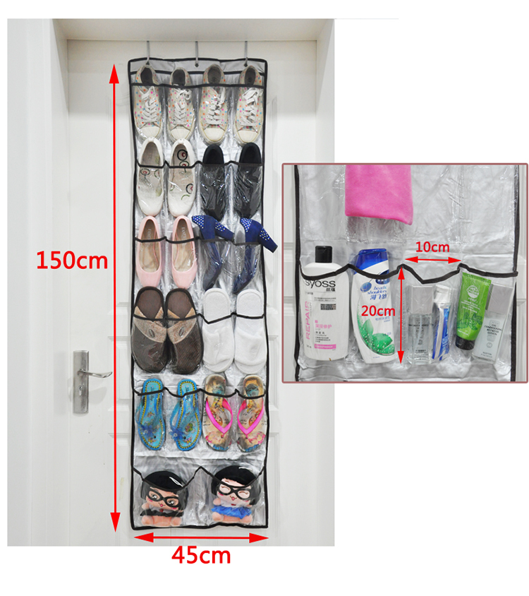 2015 Direct Selling Eco-friendly Folding Box Vacuum Bag Hot Sale 22 Pocket Over Door Hanging Shoe Organizer, Accessory Organizer(China (Mainland))