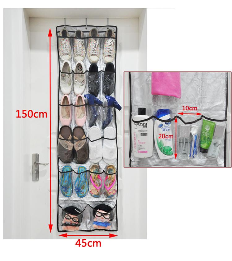 2015 Direct Selling Eco-friendly Folding Box Vacuum Bag Hot Sale 22 Pocket Over Door Hanging Shoe Organizer, Accessory Organizer(China (Mainland))