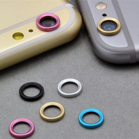 5 colors Cool Rear Camera Lens Metal Protective Ring Guard Circle Cover Case Protector for iPhone6 iPhone 6 4.7 plus 5.5