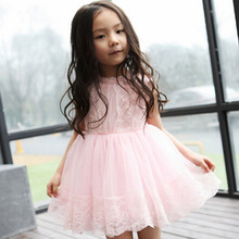 New 2016 Children Kids Girl's Casual Dresses Spring Summer Mom Girls Lace Dress Princess Mini Dresses Kid Baby Clothes(China (Mainland))