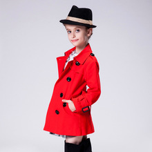 Girls wind coat Europe United States Baby Girl Clothes 2016 Spring and autumn childrens clothing Slim and Long Trench Coat