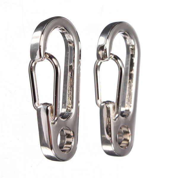 NEW Stainless steel Carabiner Bottle Hook Keychain Buckle Hanging Padlock Release Keyring Camping Hiking tents Spring Snap Hook(China (Mainland))