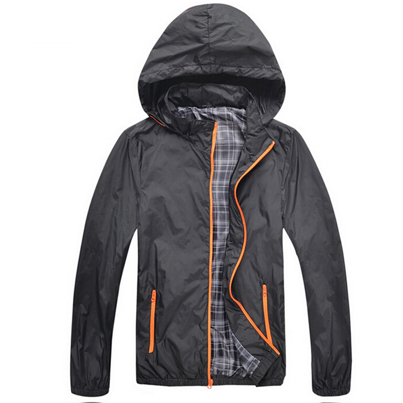 Waterproof Jackets Men 2015 Brand New Autumn Hooded Sports Jacket Men Slim Windbreaker Outdoor Zipper Coats veste homme ZHX1186(China (Mainland))