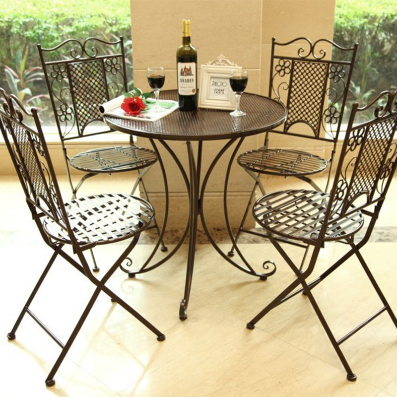 Free shipping Continental Iron outdoor furniture suite balcony dining table and chairs and coffee tables and chairs three-piece(China (Mainland))