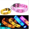 Night Glowing LED Dog Collar Nylon Flash Safety Luminous For Dogs Cats 6 Colors Small Large