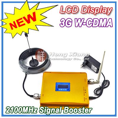 LCD Display !! W-CDMA 980 Signal Booster 2100Mhz WCDMA 3G Amplifier Cell Phone Repeater + 10m Cable Antenna - Shenzhen Hengxiang Technology Co., Ltd store