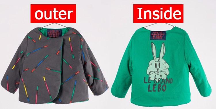 Скидки на Бобо Выбирает Зимнее Пальто Куртка Девушки Парни Теплые Пиджаки детская Одежда Скороговоркой Кролик На Открытом Воздухе Мода Одежда Cicishop