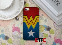 ETFC-441 Treasure Design Funny Wonder Woman Leotard Design Hard Black Skin Case Cover for iPhone 4 4s 4g 5 5s 5g