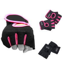 New 1 Pair Weight Lifting Leather Padded Gloves Fitness Traning Gym Sports #61168(China (Mainland))