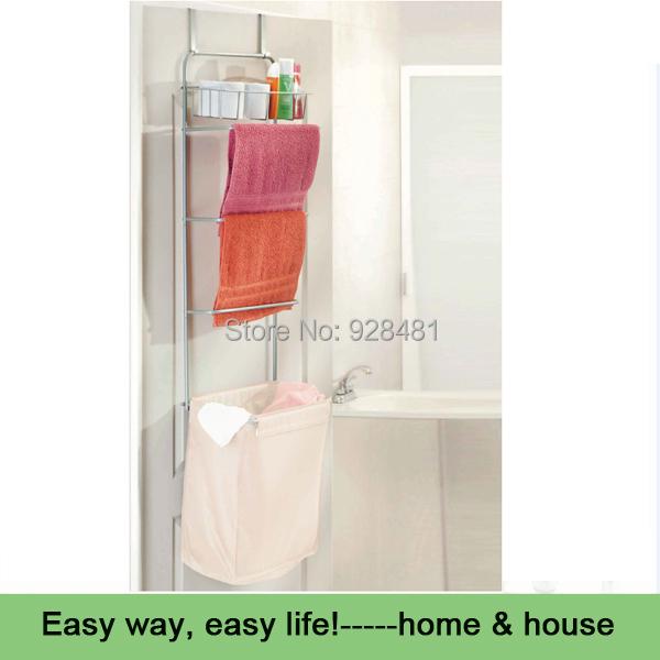Salle de bain sur porte le linge sorter avec porte - Panier a linge salle de bain ...