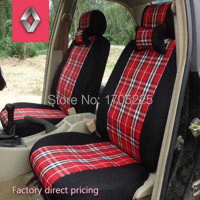 Car covers universal seat covers for Renault duster logan laguna 2 megane 2 clio Scenic Meganea Twingo Espace plaid car cover(China (Mainland))