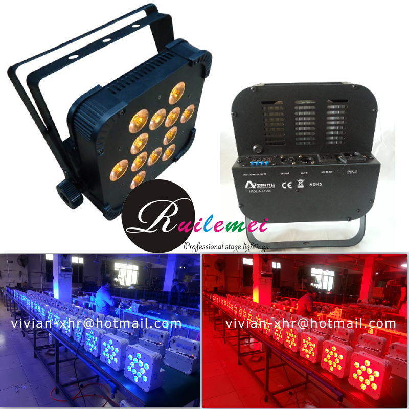 Hot 12*15W Quad Led Par Light RGBWA 5-In-1 High Power Led Flat Par Can Slim Par Led Light<br><br>Aliexpress