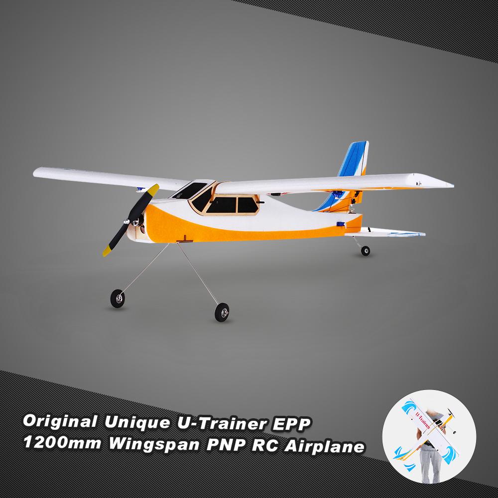 Original Unique U-Trainer 1200mm Wingspan EPP RC Airplane Aircraft PNP Edition with Motor ESC Servo(China (Mainland))