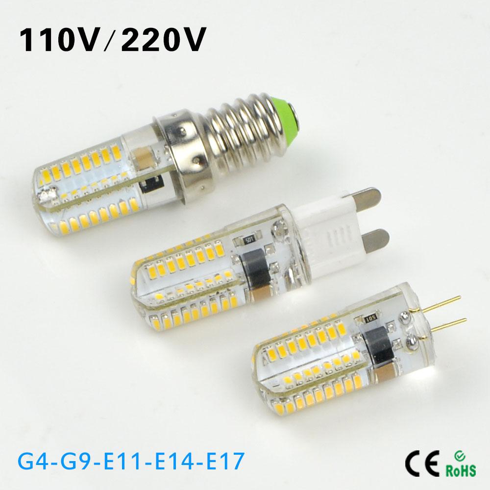 G4 G9 E14 E11 E17 E12 LED lamp 110V 220V 64LEDs Dimmable Waterproof Corn Crystal Chandelier Spotlight Replace halogen light bulb(China (Mainland))