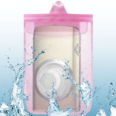 Pink Waterproof Bag for Digital Camera Size 150mm x 120 mm Lens Diameter Length 50 mm / 30 mm(China (Mainland))