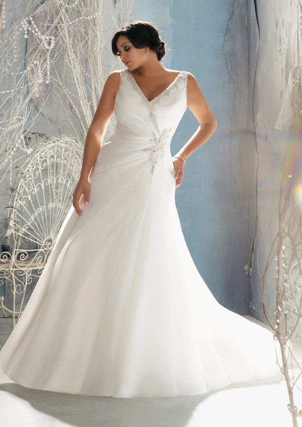 2014 new style super plus size wedding dresses in wedding for Taille plus mariage dresse