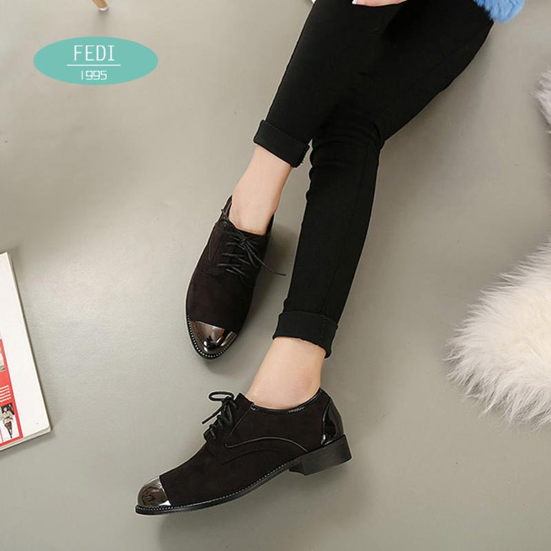 2015 High quality Fashion Casual Black Womens shoes Lace Up Flats Creepers Goth Punk Shoes women Thick crust Retro flats shoes<br><br>Aliexpress