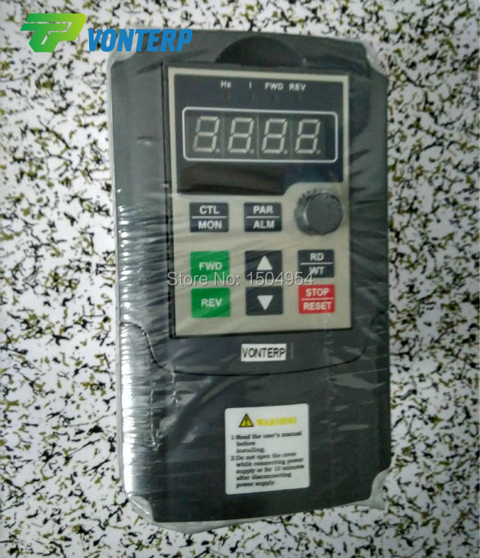 Фотография VTP5M-0R7-G1 220v 0.75KW 4A single phase input and 220v 3 phase output variable speed drives/VFD