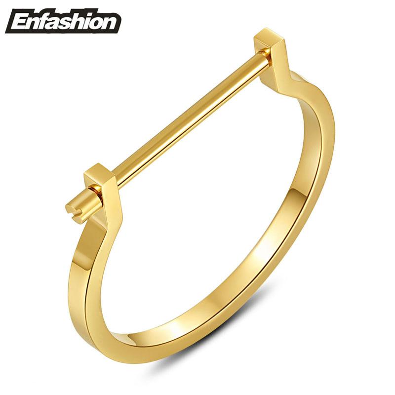 Fashion modern shackle screw cuff bracelet 18K rose gold plated bangle stainless steel bracelets for women bangles wholesale(China (Mainland))