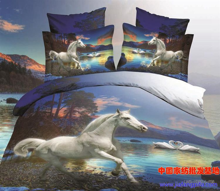 Здесь можно купить  3D Blue horse swan tree animal print bedding comforters set sets for queen size duvet cover bedspread bed in a bag sheet bedroom 3D Blue horse swan tree animal print bedding comforters set sets for queen size duvet cover bedspread bed in a bag sheet bedroom Дом и Сад