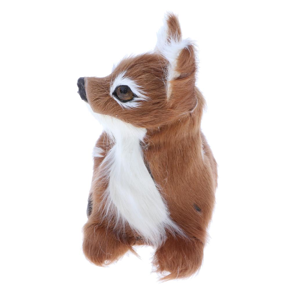 Lifelike Plush Lying Sika Deer Simulation Stuffed Fawn Animals Model Plush Figure Soft Toy Figurine Home Decoration