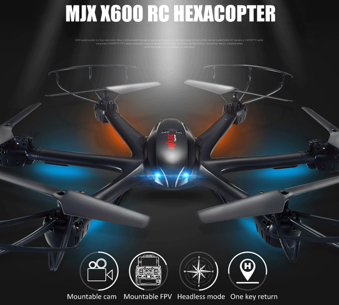 New MJX X600 2.4G RC hexa copter drone rc helicopter 6-axis can add C4002&C4005 camera(FPV) more powerful than quadcopter