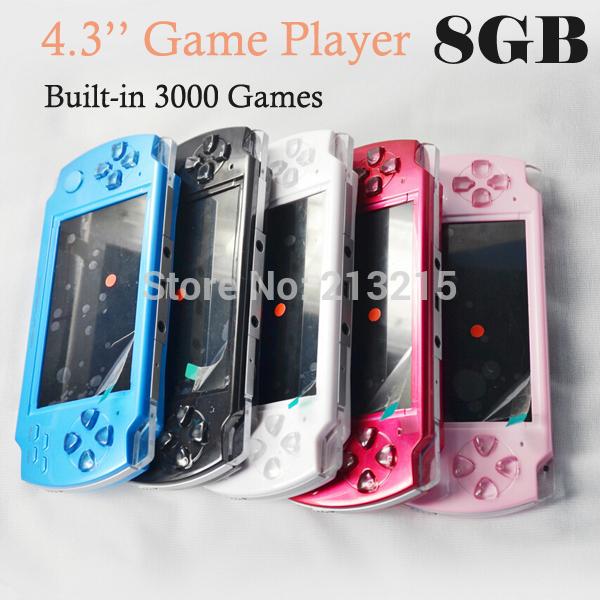 Портативная игровая консоль Newmagic 10pcs 4.3 8GB MP4 MP5 FM 3000 4.3'' game player портативная игровая консоль 20 4 4 3 pmp bulit fm tv
