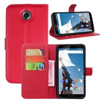 Luxury Slim Flip PU Leather Stand Bracket Wallet Card Pocket Holder Pouch Case Cover Skin Shell For Motorola Nexus 6 / X XT1100
