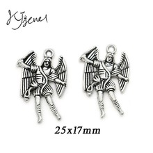 Buy 10Pcs/lot Antique Silver Plated Angel Fairy Charm Pendant Bracelets Necklace Jewelry Making Craft DIY 25x17mm for $1.19 in AliExpress store