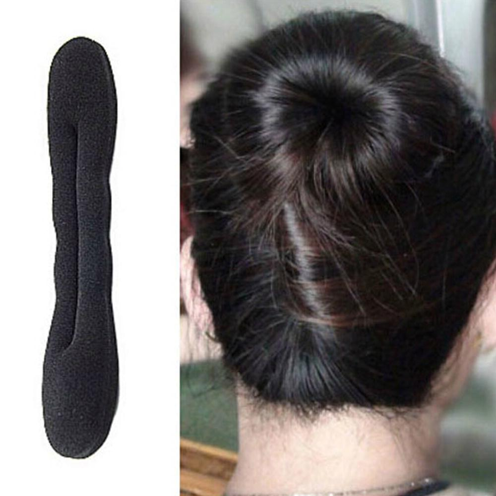 fashion hair bands Magic Foam Sponge Hair Tools Plate Donut Bun Maker Former Twist Tool Styling Fast delivery(China (Mainland))