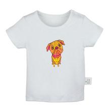 ภาพเคลื่อนไหว Powerpuff Girls สีดำแมววันพุธ Pug Dog ทารกแรกเกิดเสื้อยืดเด็กวัยหัดเดินกราฟิกสีทึบแขนสั้...(China)