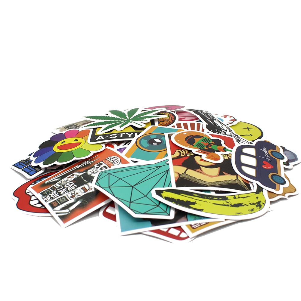 100 PCS / Pack Random music film Vinyl Skateboard Guitar Travel Case sticker Car decal Cute Stickers fashion funny sticker(China (Mainland))