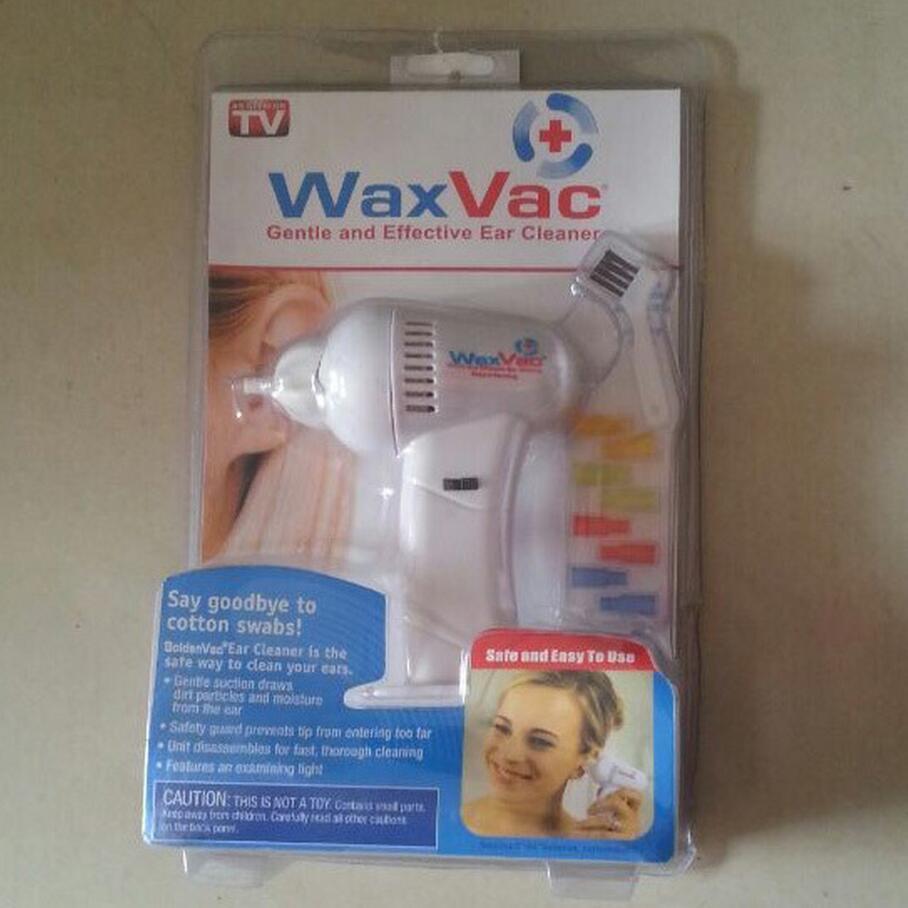 1pcs WAXVAC CORDLESS VACUUM EAR CLEANING SYSTEM CLEAN EAR WAX VAC free shipping(China (Mainland))