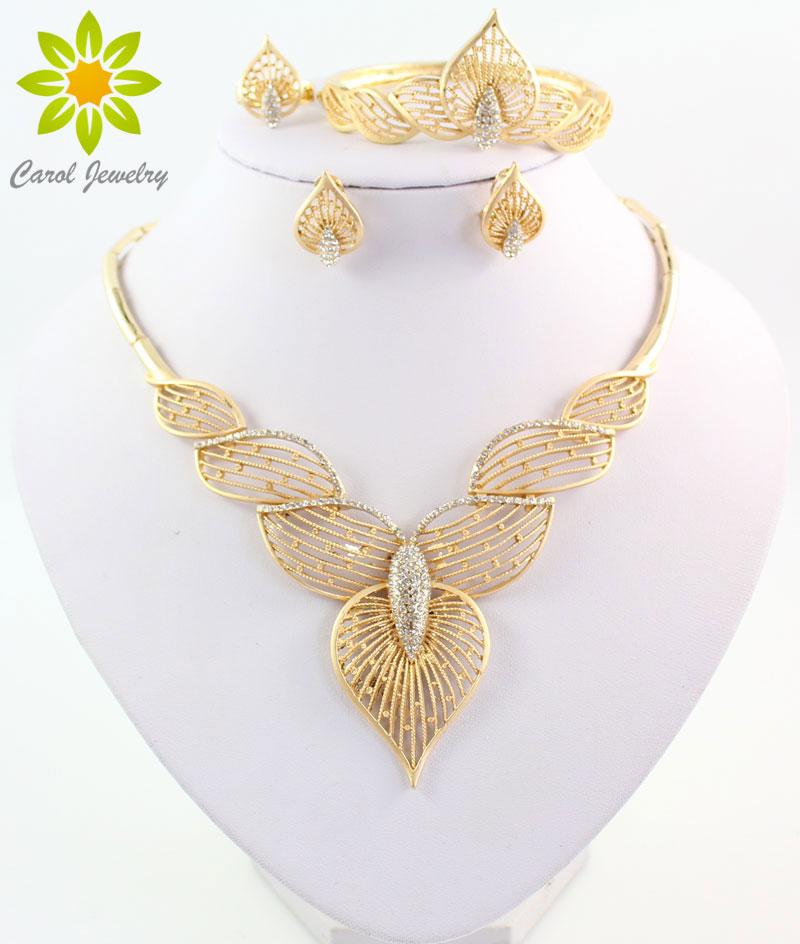 new fashion african dubai bridal 18k gold plated costume jewelry set